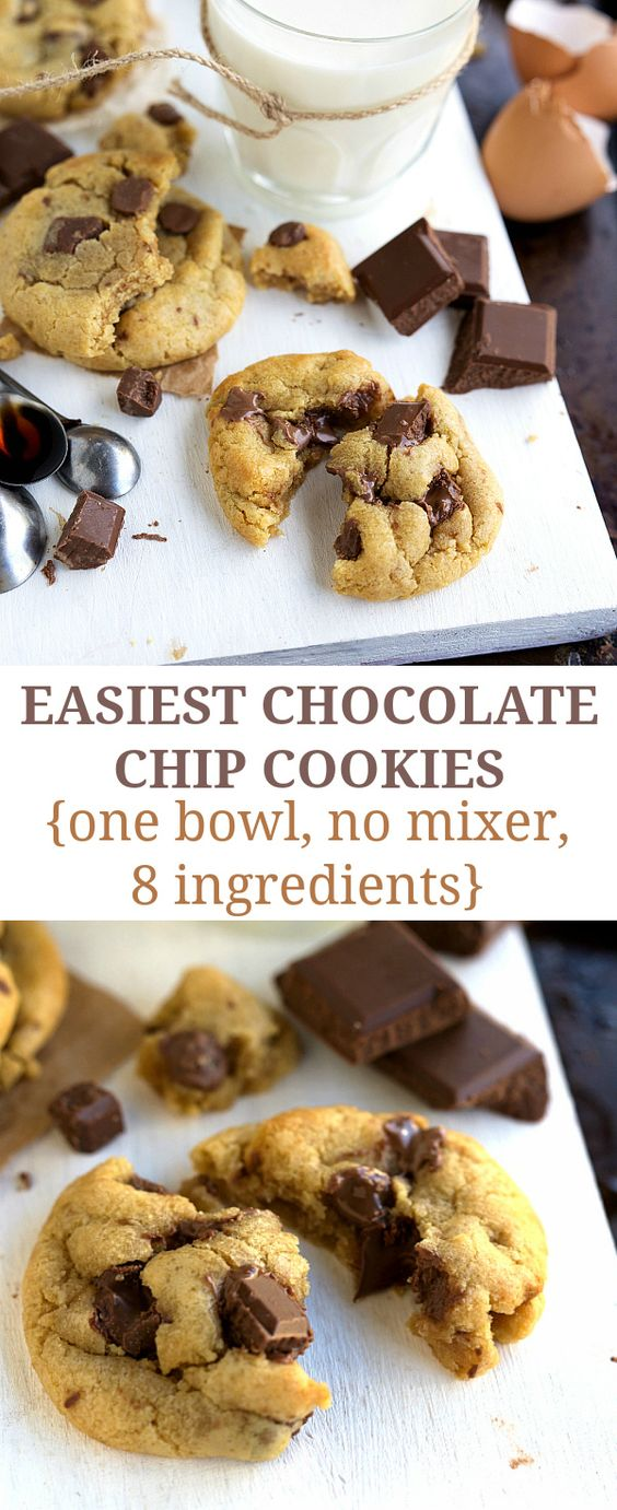 Chocolate Chip Cookies (One Bowl, No Mixer Required) | Recipe | Chip ...
