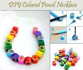 un collier en crayons de couleur!