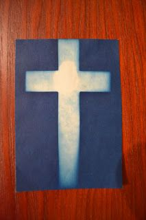 Jesus Cross Sunprint paper