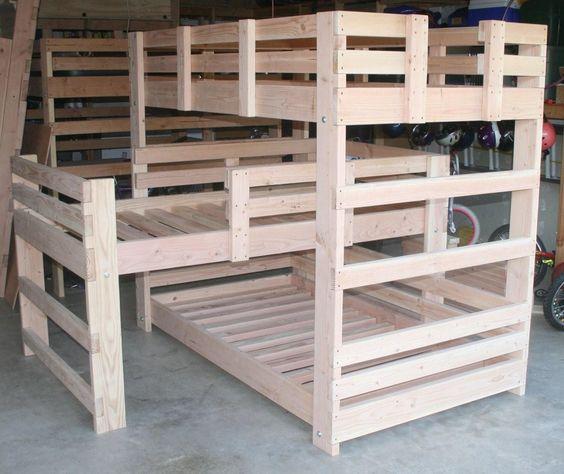 bunk bed plans triple trundle triple bed triple bunks toddler bunk