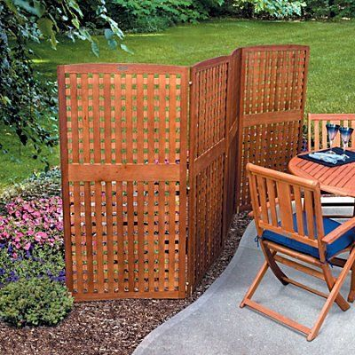 Single panel privacy screen 23 x42 natural for Outdoor wood screen panels