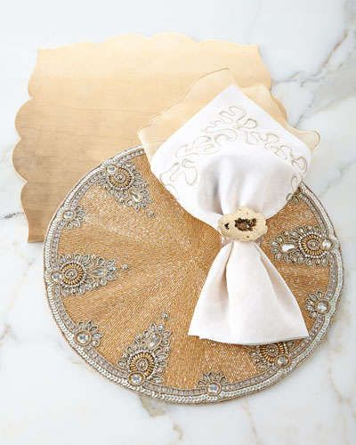-5QZM Kim Seybert Versailles Table Linens