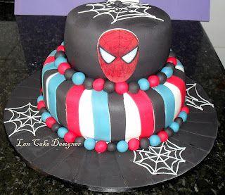 Spiderman cake: bolo Homem Aranha: