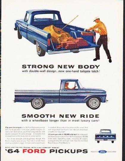 Description 1964 Ford Pickups Vintage Magazine Advertisement