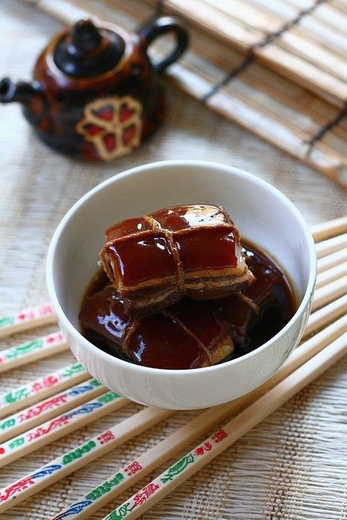Braised Pork Belly (Dong Po Rou/东坡肉)-This is one dish that is ...