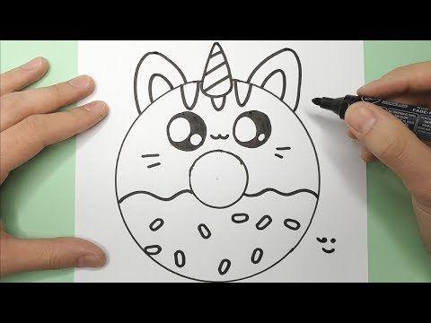 Videotuto Comment Dessiner Et Colorier Un Donut Chat Licorne