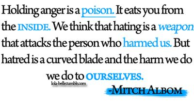 anger is a poison
