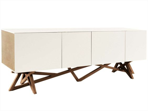 Lacquered sideboard with doors saga les contemporaines collection ...