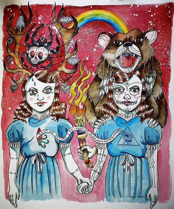 Shining Twins painting by Marie Meier.