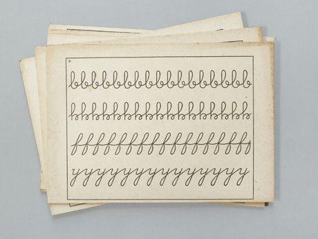 Vintage Französische Übungskarten Schreiben bei presentandorrect / French Handwriting Cards at presentandorrect