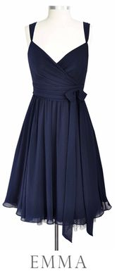 Bridesmaid dress Idea: I picked this dress for the style (not color obviously).This style is flattering on lots of body types.