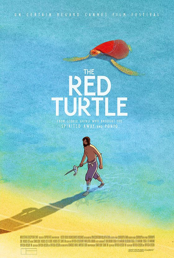 The Red Turtle Beautifully Animated The Story Is Told Without Any Dialog You Will Always Wonder If The Man Will Get The Red Turtle Film Posters Art Turtle