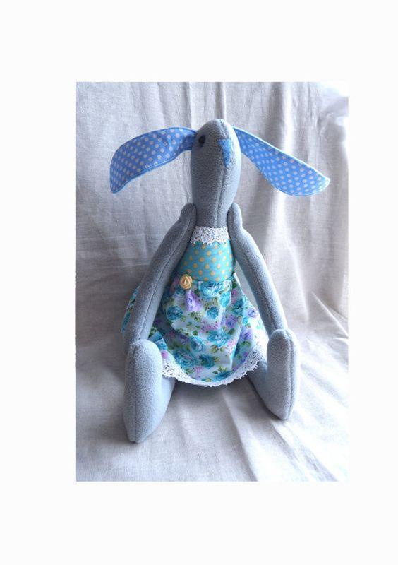 Softie Plush toy funny bunny tilda dol soft toy by FunnyBunny345