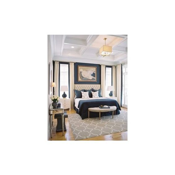 Building A Dream House Navy Bedrooms ❤ liked on Polyvore featuring home, furniture, bedroom, columbia, navy blue furniture, navy furniture, dark blue furniture and columbia furniture