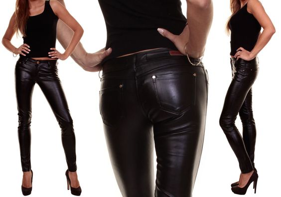 Hüfthose Lederimitat Kunstlederhose Lederoptik,Röhrenhose Jeans.XS,S,M,L,XL