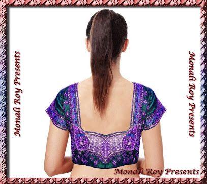 silk saree blouse hand work designs - Google Search