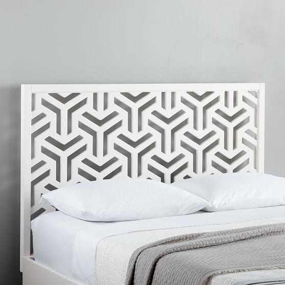 Lattice Headboard Queen Headboards For Beds Geometric Headboard White Headboard Bedroom