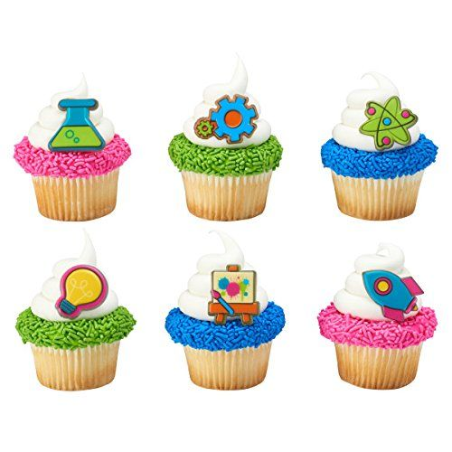 Mad Science Stem Experiment Fun Cupcake Topper Rings Set Of 12