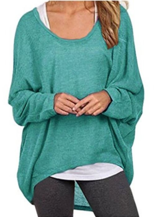 Perfect for haning out at home or running some casual errands too. Oversize womens top