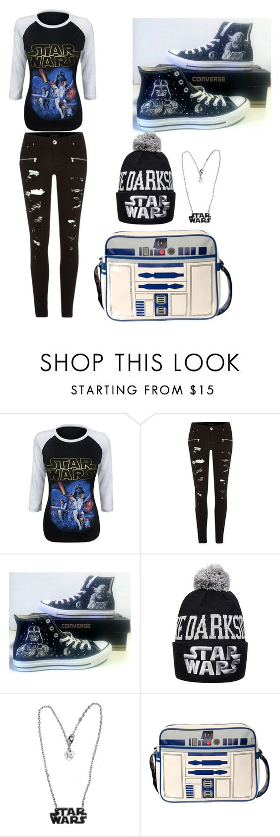 """""""STARWARS"""" by hk10101 on Polyvore featuring River Island and Converse"""