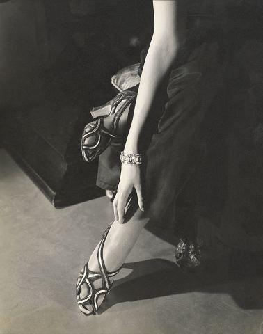 1934, Princess Nathalie Paley wearing sandals by Shoecraft ~ Edward Steichen