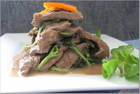 Black Pepper Basil Beef