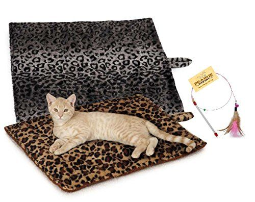 THERMAL CAT MATS QUALITY COZY no electricity SELF WARMING HEATING BED Beige Grey