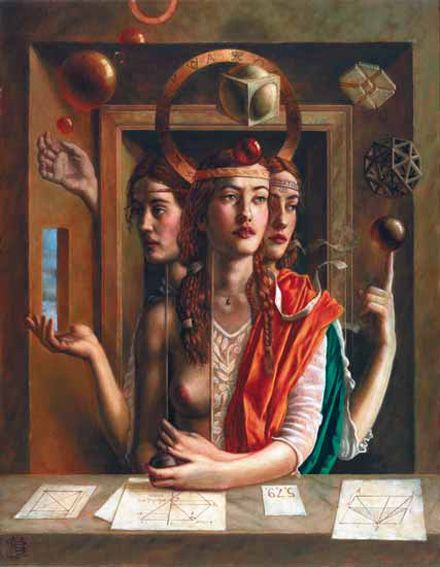 "Jake Baddeley                                               ""The ideal form""                                                 Oil on canvas, 2002.:"