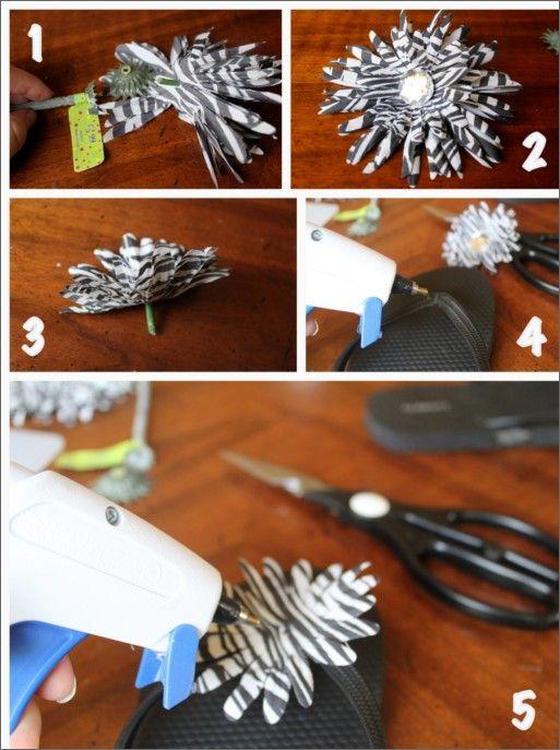 Making floral flip flops