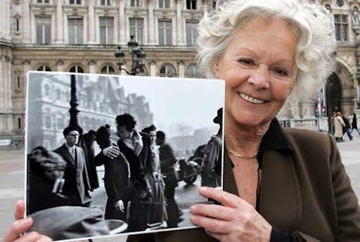 El beso del Hôtel de Ville:  Françoise Bornet (foto actual) y su novio, Jacques Carteaud