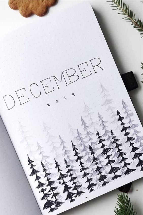 30 idées pour votre page de décembre dans votre Bullet Journal - @bulletofsweden on instagram