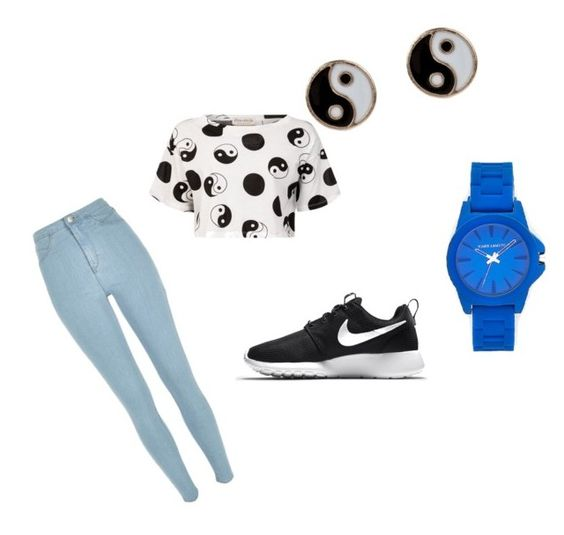 """Ying/Yang"" by wild-tiger16 ❤ liked on Polyvore featuring River Island, Être Cécile, NIKE, Accessorize and Vince Camuto"