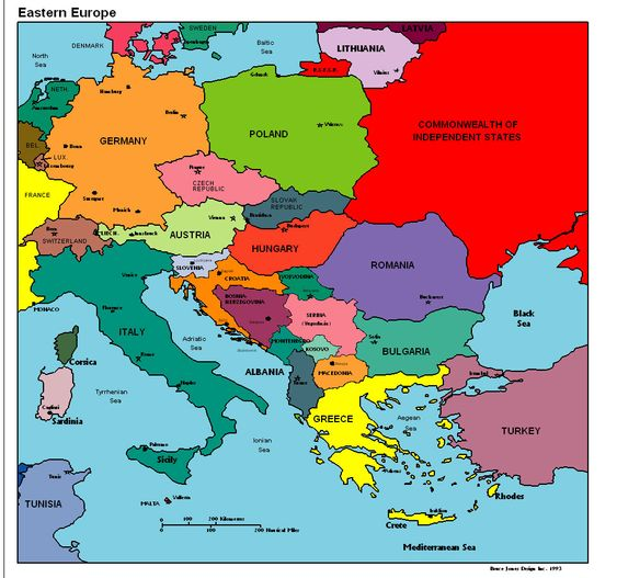 Eastern Europe Political Map – Geographical Map of Eastern Europe