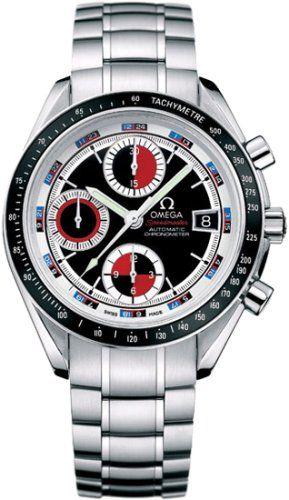 Omega Men's 3210.52.00 Speedmaster Date Black & Red Automatic Chronometer Chronograph Watch