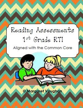 Progress Monitoring Reading Assessments: 1st Grade RTI {Aligned with Common Core}: Rti Assessments, 1St Assessments, Reading Assessments, Assessment Common Core, Assessments 1St, Reading Rti, Assessment Documentation, School Reading, Core Reading