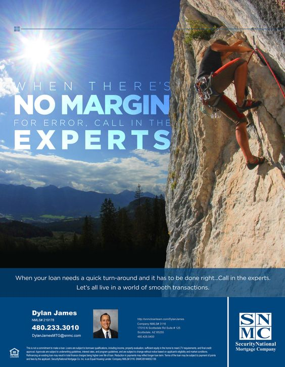 When there's no margin for error, call in the experts When your loan needs a quick turn-around and it has to be done right…Call in the experts. Let's all Source: No Margin for Error . .. . .…