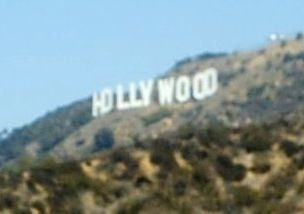 Hollywood Sign. Hollywood Hills California. If you can find your way up the hill, there's free parking. Then a hike down a trail about 200 yards.