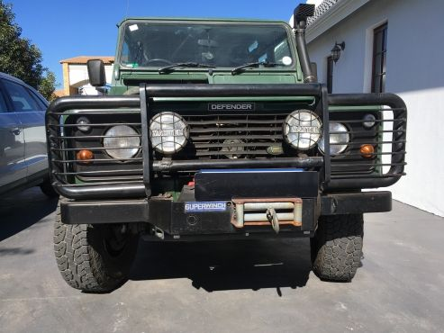 Land Rover Defender Bull Bar And Winch For Sale Land Rover