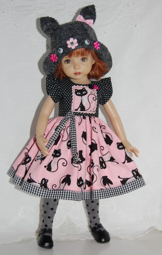 """~*~Kitty Chic Boutique~fits 13"""" Effner Little Darling~*~3PC OOAK~*~Ends 9/14/14. Start bid $65.00 or BIN $100.00:"""
