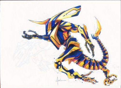 Robô, Lápis de cor A4