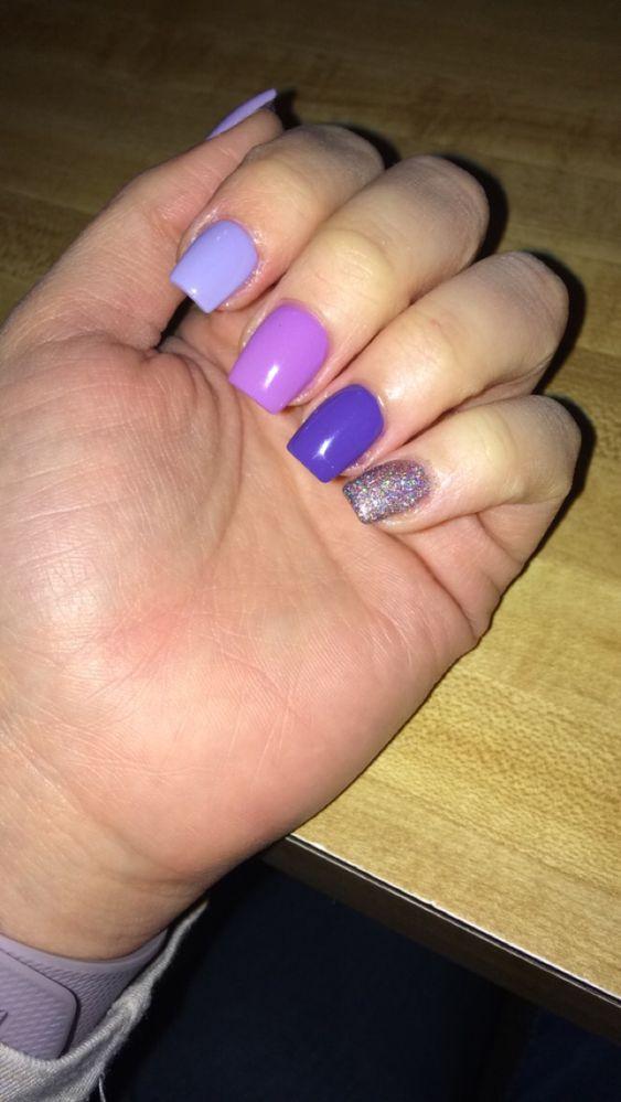 Purple Acrylic Nails Purple Acrylic Nails Acrylic Nails Nails