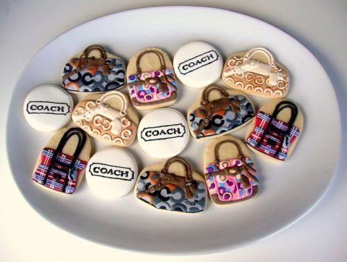 Coach bag cookies.