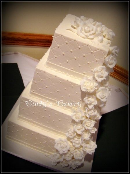 This needs some apple red accents. Weddings Wedding Cakes Photos on WeddingWire future-wedding-ideas