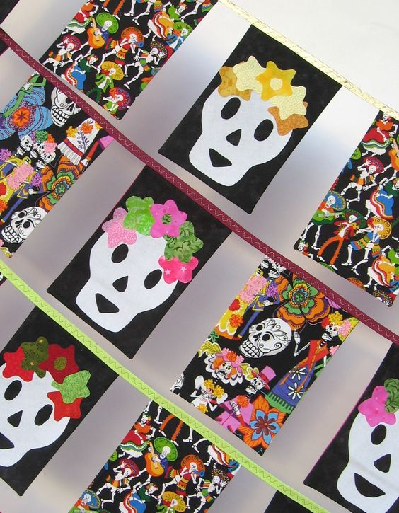 Skully bunting from Bad Baby Quilts.