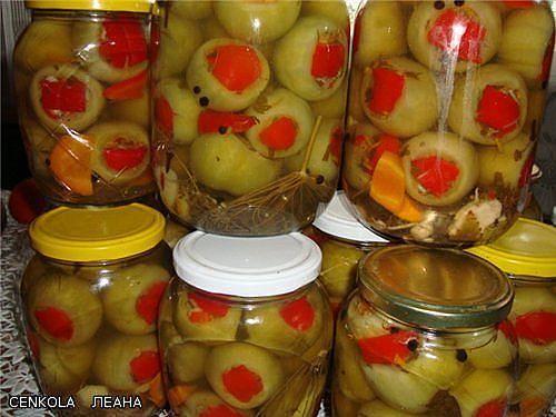 вкусные зелёные помидоры на зиму рецепты с фото