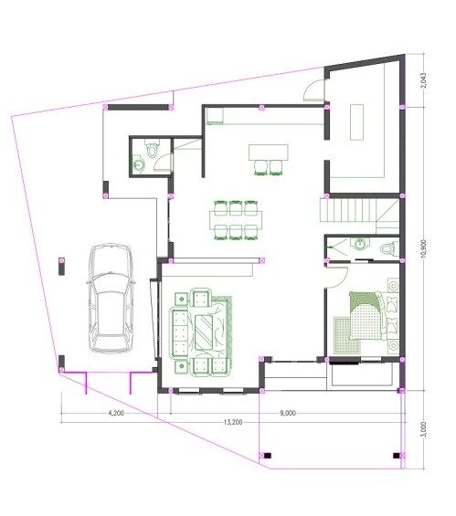 Two Storey Modern House Plan With Four Bedrooms And Five Bathrooms Cool House Concepts In 2020 House Layout Plans Modern House Plan House Plans