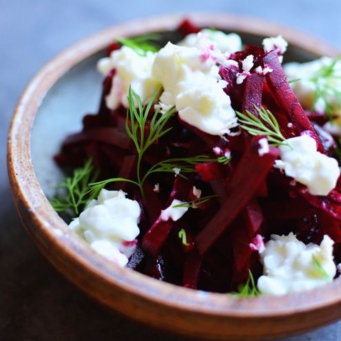 Sounds weird, but I loke all the ingredients individually, so who knows? Beetroot with Horseradish, Cottage Cheese and Dill - Nordic Recipe