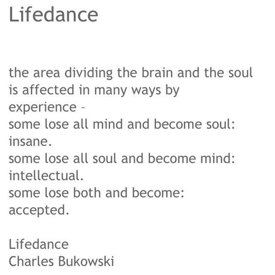 """Αποτέλεσμα εικόνας για Charles Bukowski, """"LIFEDANCE"""""""