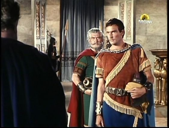 Prince Yonatan and Avner Ben Ner - from the movie: Story of David 1960