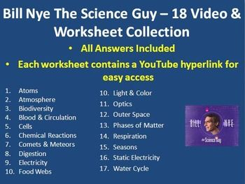 bill nye video worksheets complete 20 video worksheet collection seasons videos and food webs. Black Bedroom Furniture Sets. Home Design Ideas